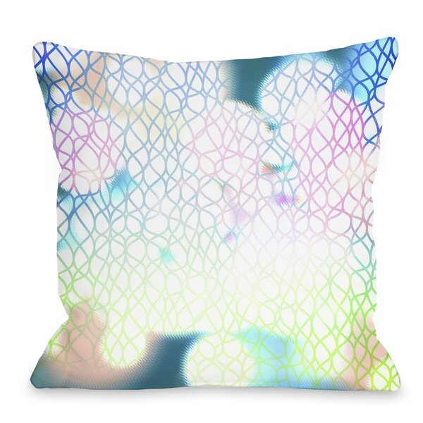 Swirlathon Throw Pillow by One Bella Casa