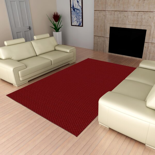 Esther Red Area Rug by Winston Porter