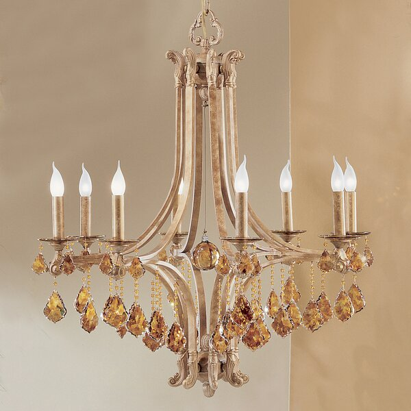 Mediterranean 8-Light Candle Style Chandelier by Classic Lighting