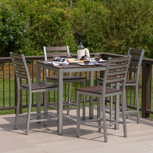 Orma 5 Piece Bar Height Dining Set by Latitude Run