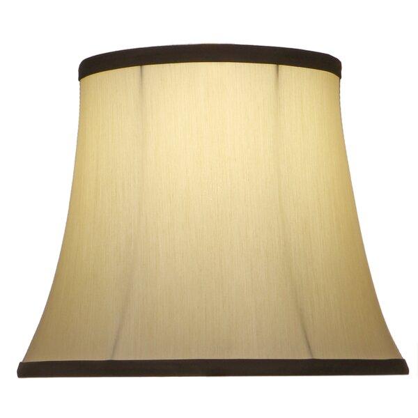 10 H Linen Bell Lamp Shade ( Spider ) in Eggshell/Black Trim