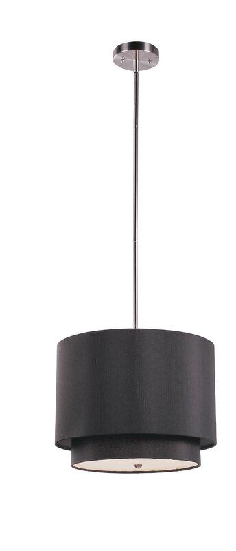Mercury row acamar 3 light led drum pendant reviews wayfair acamar 3 light led drum pendant aloadofball Choice Image