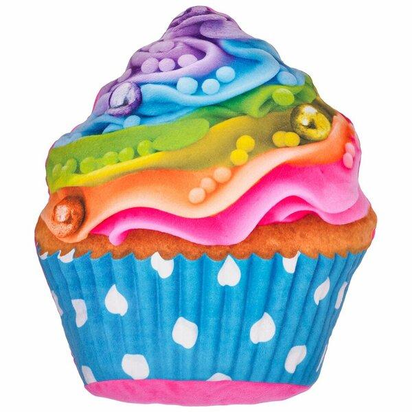 Hardnett Rainbow Cupcake Pillow by Zoomie Kids
