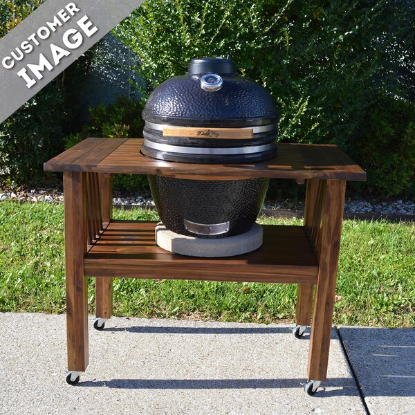 16.5 Kamado Built-In Charcoal Grill with Smoker by