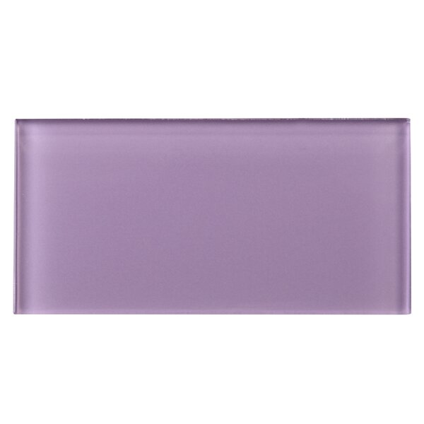3 x 6 Glass Tile in Purple by Multile