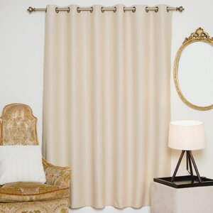 McCormack Solid Blackout Thermal Grommet Single Curtain Panel