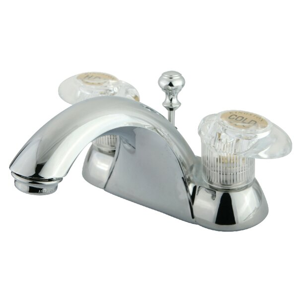Naples Centerset Bathroom Sink Faucet with ABS Pop-Up Drain by Kingston Brass Kingston Brass