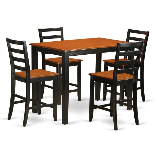 Yarmouth 5 Piece Counter Height Pub Table Set By Wooden Importers Cool