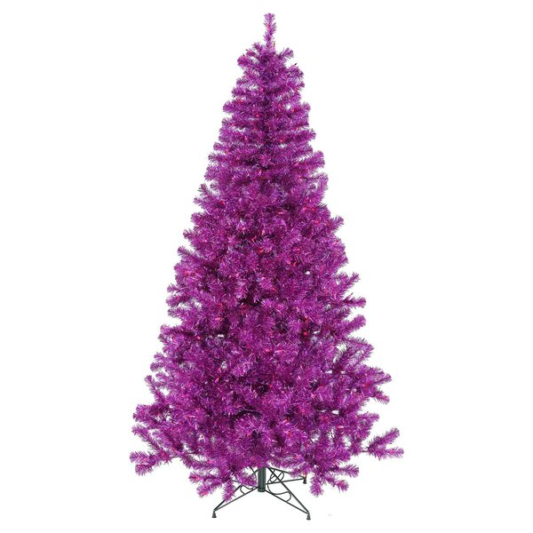 PVC Purple Pine Artificial Christmas Tree by The H