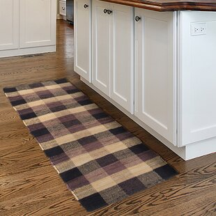 Best Reviews Brisbin Plaid Accent Hand-Woven Black Area Rug ByAugust Grove