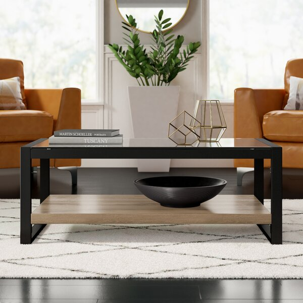Theodulus Sled Coffee Table With Storage By Mercury Row