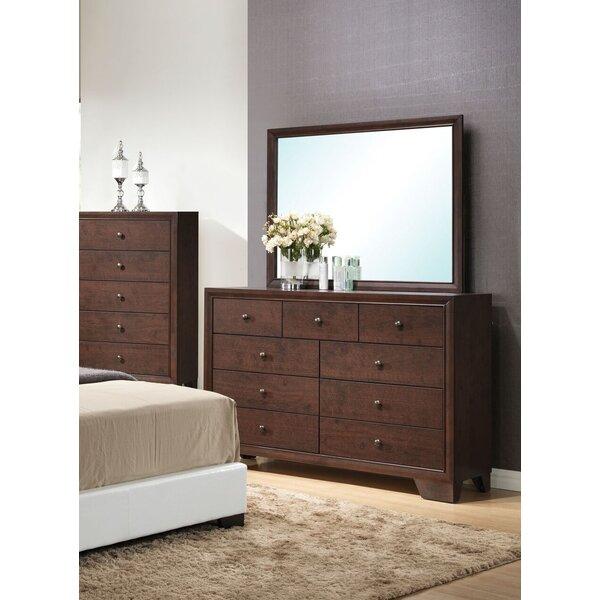 Mccree 9 Drawer Dresser with Mirror by Ebern Designs