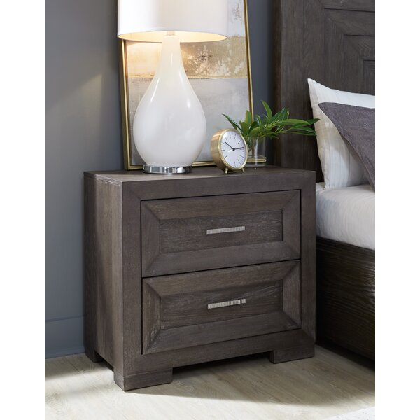 Seevers 2 Drawer Nightstand by Union Rustic