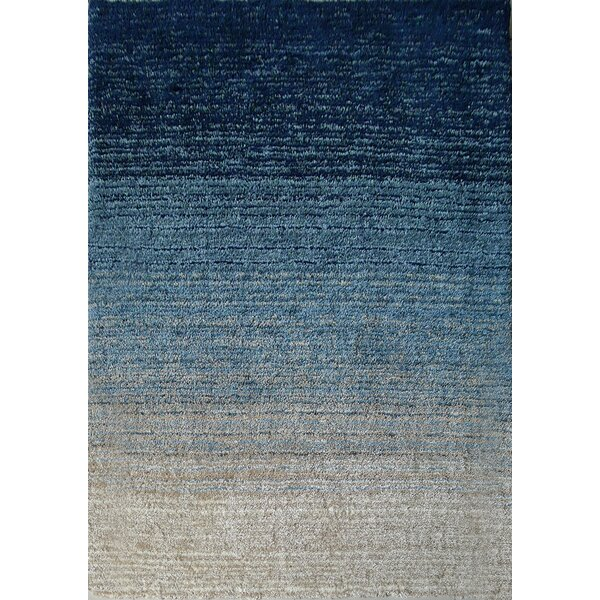 Hand-Tufted Teal/Beige Area Rug by Rug Factory Plus