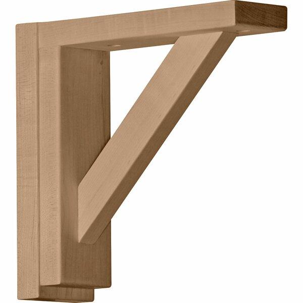 Traditional 8 1/4H x 2 1/2W x 8 3/4D Shelf Bracket in Rubberwood by Ekena Millwork