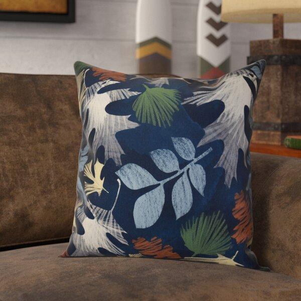 Brookfield Watercolor Leaves Floral Print Throw Pillow by Loon Peak
