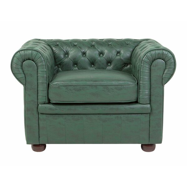 Andino Tufted Faux Leather Chesterfield Chair by Everly Quinn