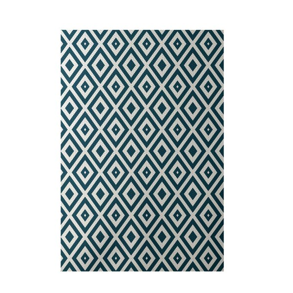 Geometric Ivory Indoor/Outdoor Area Rug by e by design