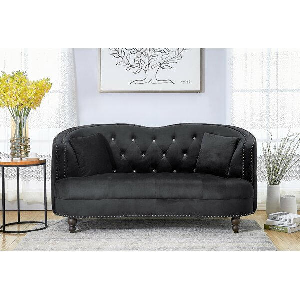 Priscilla Curved Loveseat By House Of Hampton