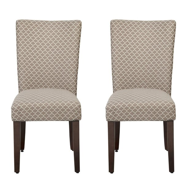 Didonato Cotton Upholstered Dining Chair In Cream (Set Of 2) By Darby Home Co