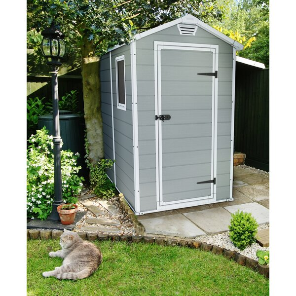 Manor 4 ft. W x 6 ft. D Plastic Vertical Storage Shed by Keter