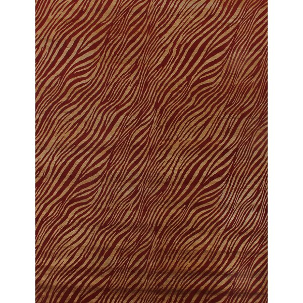 Modern Wilderness Red/Gold Area Rug by Exquisite Rugs