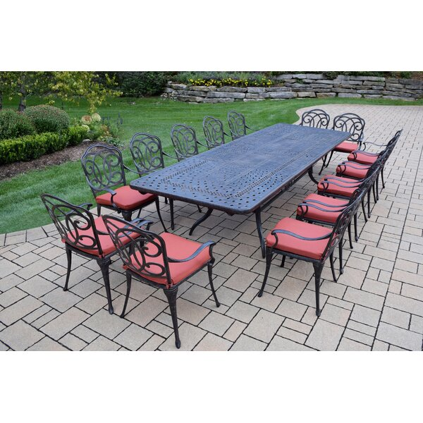 Robicheaux 15 Piece Dining Set with Cushions