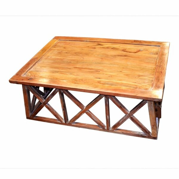 Merlino Wooden Coffee Table With Tray Top By August Grove