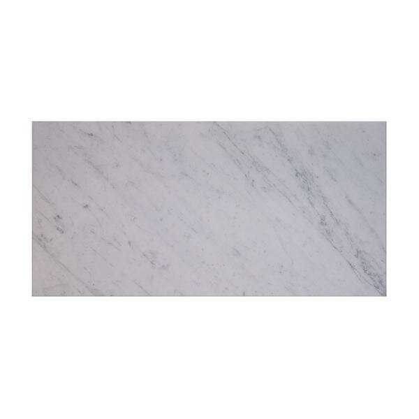 Carrara 12 x 24 Marble Field Tile in White (Set of 3) by Matrix Stone USA