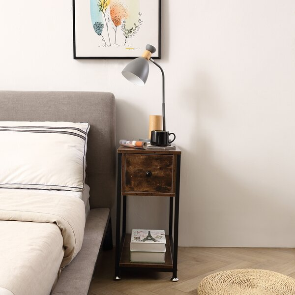Galena 1 - Drawer Nightstand in Brown by 17 Stories 17 Stories