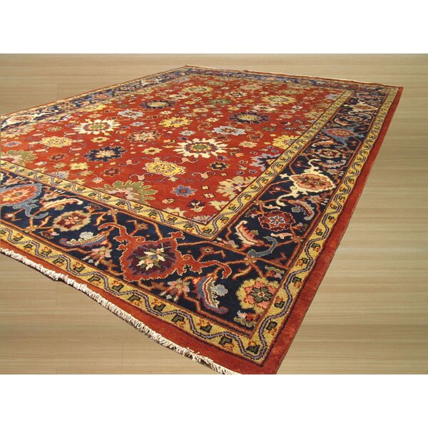 Manjlegaon Hand-Knotted Red/Brown Area Rug by Meridian Rugmakers
