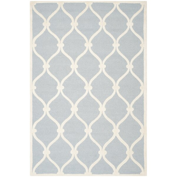 Martins Hand-Tufted Wool Blue Area Rug by Wrought Studio