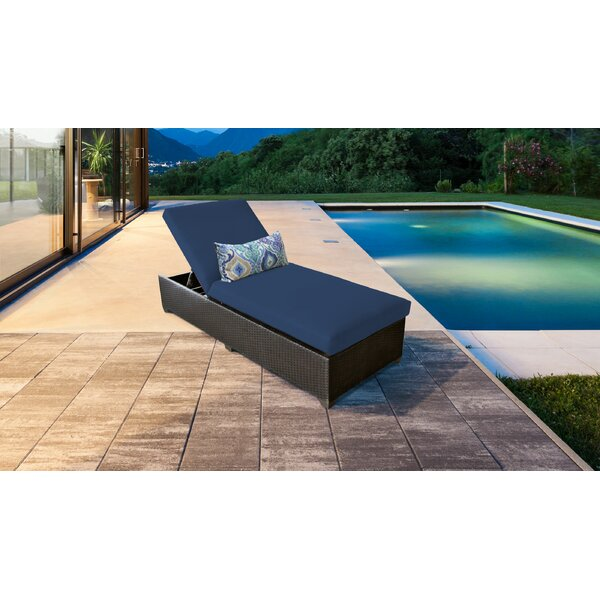 Medley Chaise Lounge with Cushion by Rosecliff Heights
