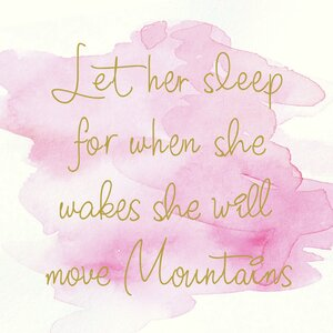 'Let Her Sleep for When She Wakes She Will Move Mountains Quote' by Marilu Windvand Textual Art on Wrapped Canvas by Buy Art For Less