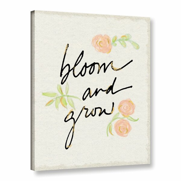 Bloom and Grow Canvas Art by Viv + Rae