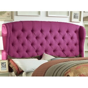 Leatham Upholstered Wingback Headboard by Three Posts
