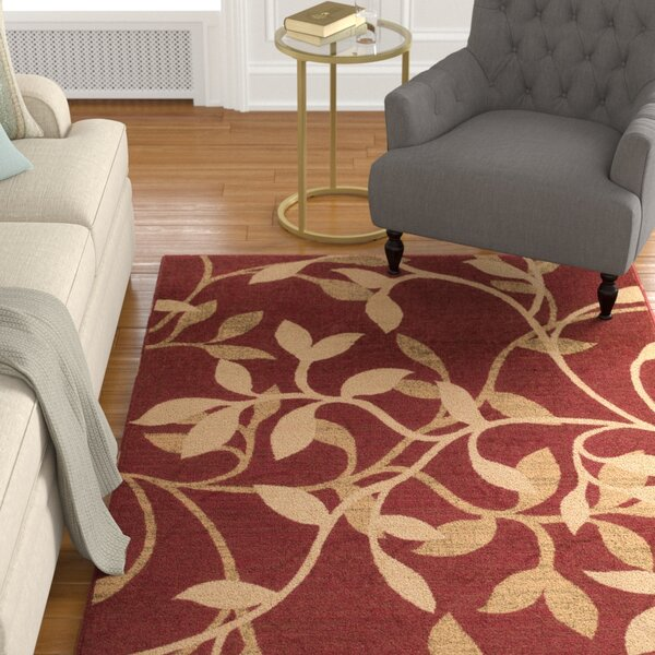 Gaskins Red Area Rug by Charlton Home