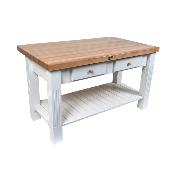 American Heritage Kitchen Island with Butcher Block by John Boos