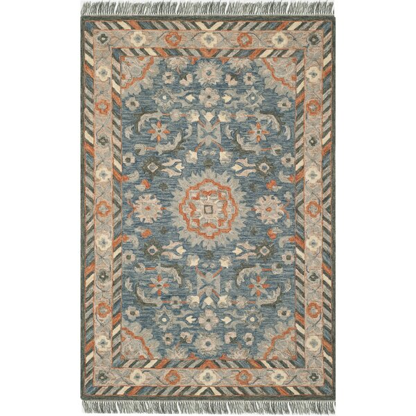 Chancellor Hand-Tufted Wool Blue Area Rug by Bungalow Rose