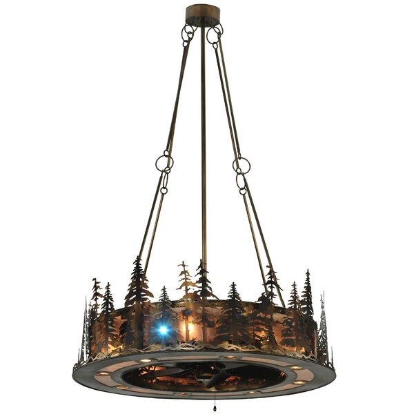 Barringer 21 - Light Unique / Statement Wagon Wheel Chandelier by Millwood Pines Millwood Pines