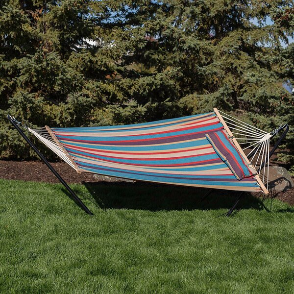 Sipp Cotton Spreader Bar Hammock with Stand by Bay Isle Home Bay Isle Home