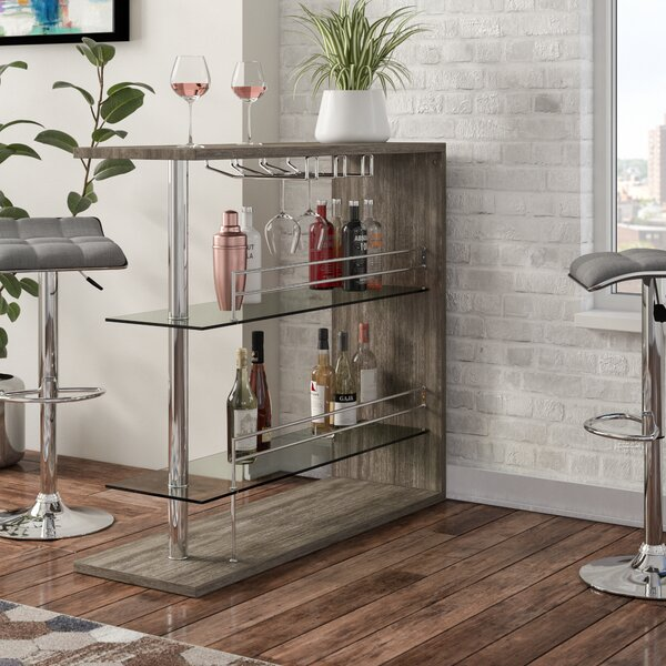 Wadebridge Bar With Wine Storage By Wrought Studio 2019 Sale