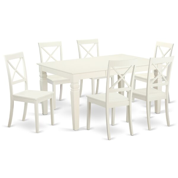 Septimus 7 Piece Solid Wood Dining Set by Alcott Hill Alcott Hill