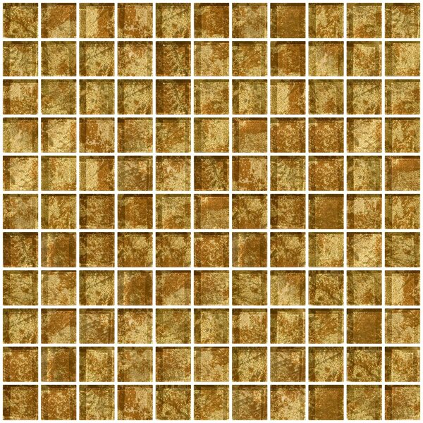 1 x 1 Glass Mosaic Tile in Patina Bronze by Susan Jablon