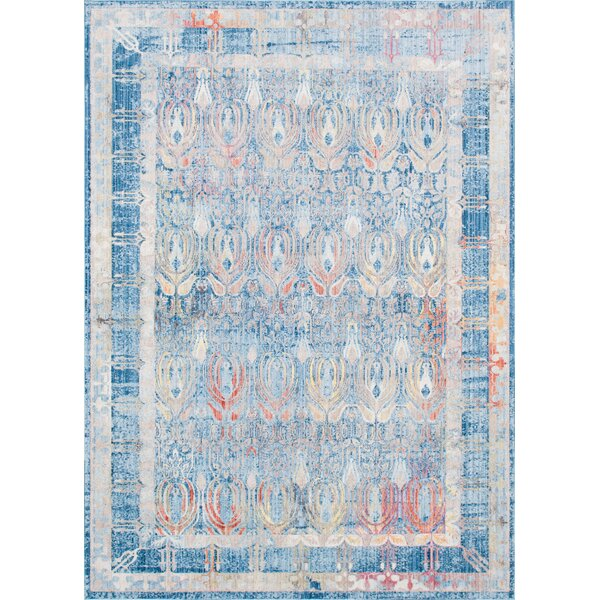 Gomez Blue/Gold Area Rug by Bungalow Rose