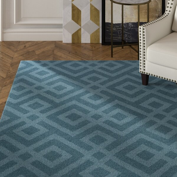 Phelps Hand-Tufted Blue Area Rug by Mercer41