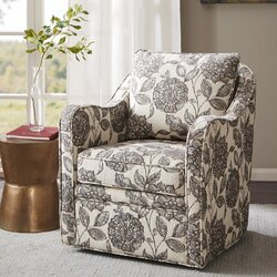brick and barrel swivel armchair