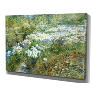 'The Water Garden' by Childe Hassam Framed Painting Print by Wexford Home