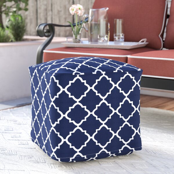 Cribb Square Outdoor Beanbag Ottoman by Wrought Studio