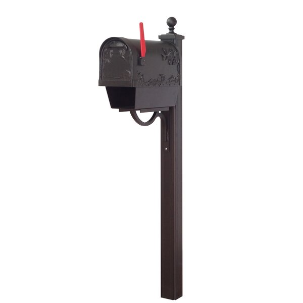 Hummingbird Curbside Mailbox with Main Street Post Included by Special Lite Products